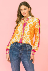Flying Tomato Silky Beautiful French Blouse