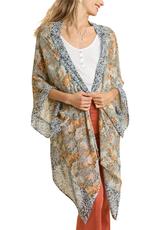 Umgee Silky Mixed Print Kimono