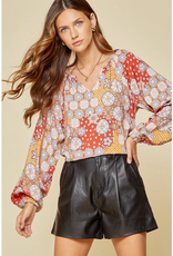 Andree Classic Balloon Sleeve Blouse