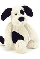 "Jellycat Bashful Black & Cream Puppy - 12"""