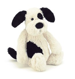 Jellycat Bashful Black & Cream Puppy - 12""