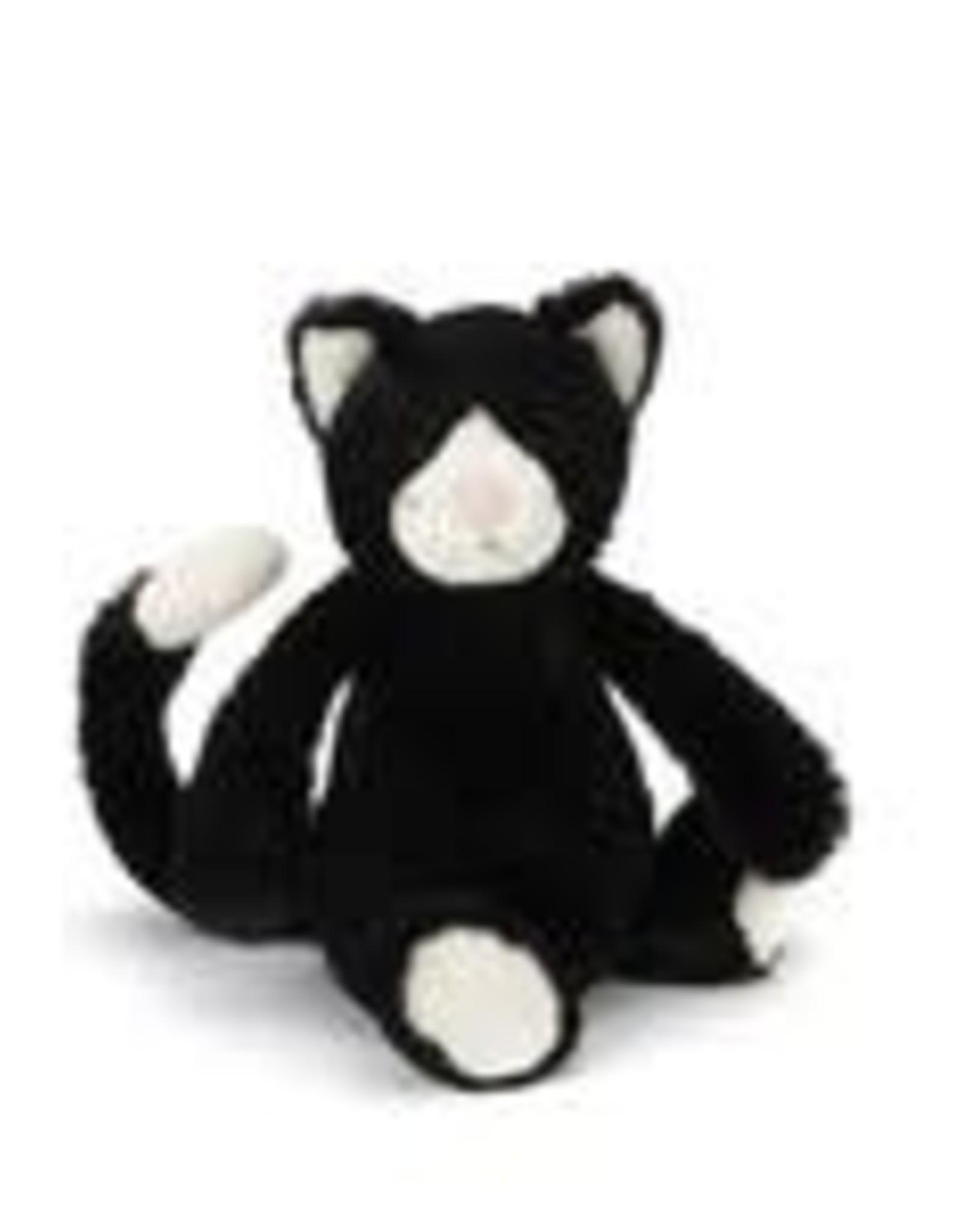 "Jellycat Bashful Black & White Kitten -12"" MEDIUM"