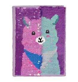Llama Reversible Sequin Journal