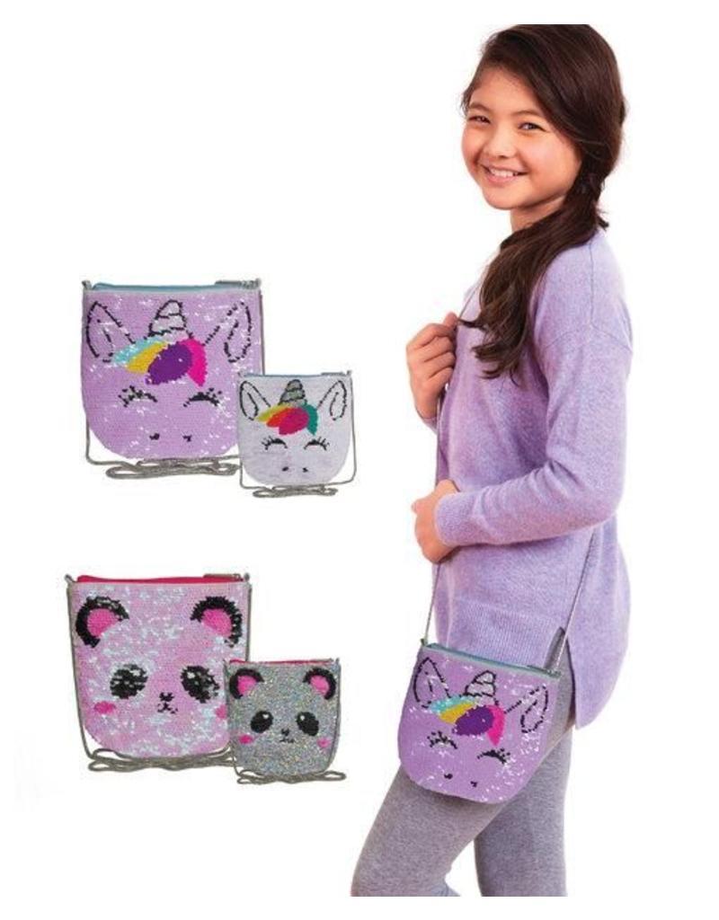 Panda Sequin Crossbody Bag