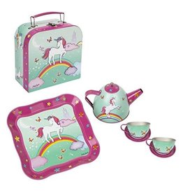Unicorn tea set in  mini carry case  mint