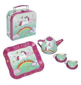 Unicorn tea set in  mini carry case  mint