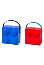 Brick Lunchbox w/ Handle Blue