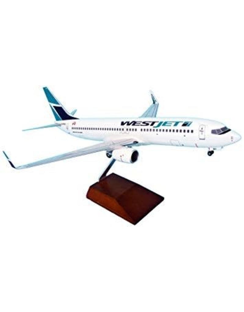 Skymarks WESTJET 737-800 1/100 W/GEAR & Wood Stand