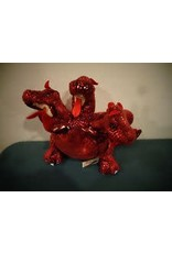FOLKMANIS RED THREE HEADED DRAGON
