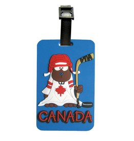 Luggage Tag - Hockey Beaver