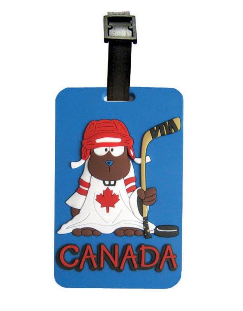 Luggage Tag - Hockey Beaver