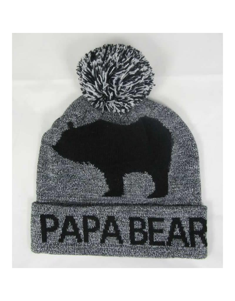 Papa Bear Toque w/ Embroidered Canada Flag