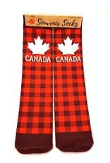 Canada Socks PLAID w White