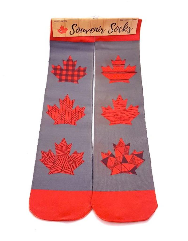 Canada Socks Gray W Plaid