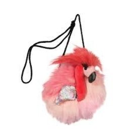 Flamingo Fur Fuzzle Crossbody