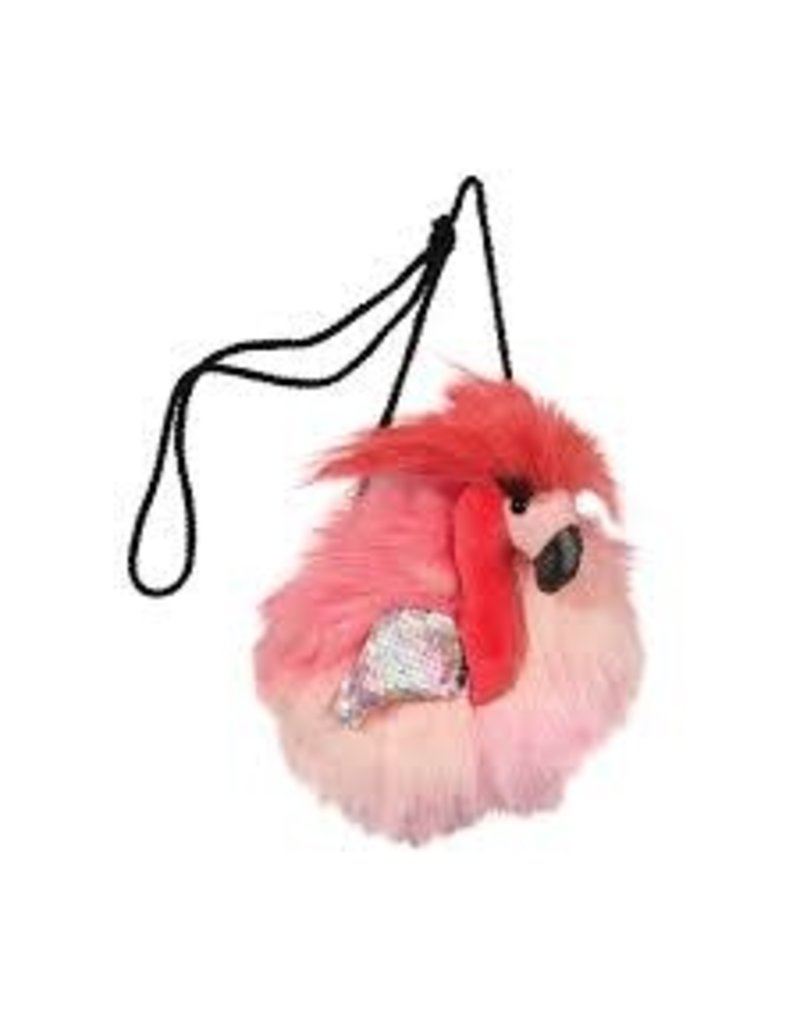 Flamingo Fur Fuzzle Crossbody