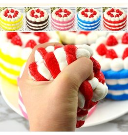 Squishy 12Cm Strawberry Cake Assorted Colours