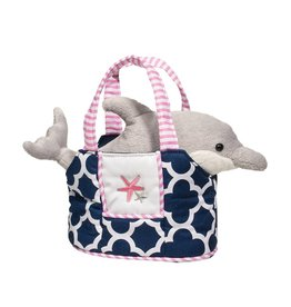 Navy Sassy Sak W/ Dolphin