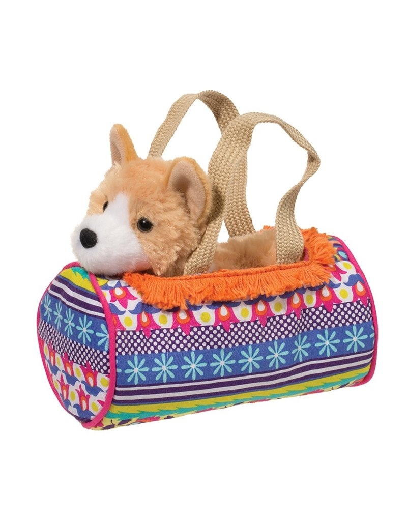 Boho Sassy Pet Sak with Corgi