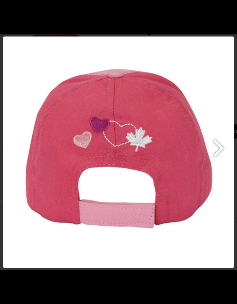 Pink Kids Canada Cap
