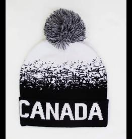 Canada Toque w/Grey Pom Pom