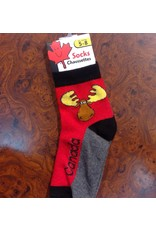 Stone Age Goofy Moose Socks 5-8