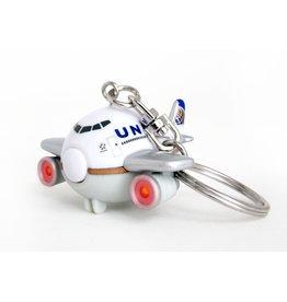 United Airlines Keychain W/Light & Sound
