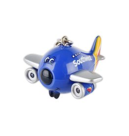 Southwest Airplane Keychain W/Light &
