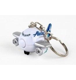 Alaska Airline Keychain W/Light & Sound New