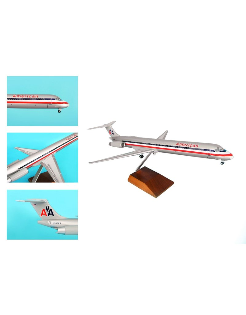 Skymarks American Md-80 1/100 Wood Stand