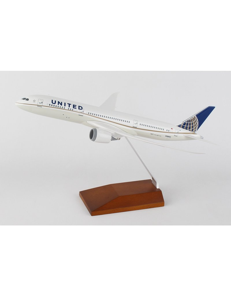 Skymarks United 787-9 1/200 W/Wood Stand