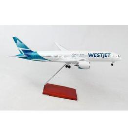 Skymarks WestJet 787-9 1/100 W/Wood Stand & Gear
