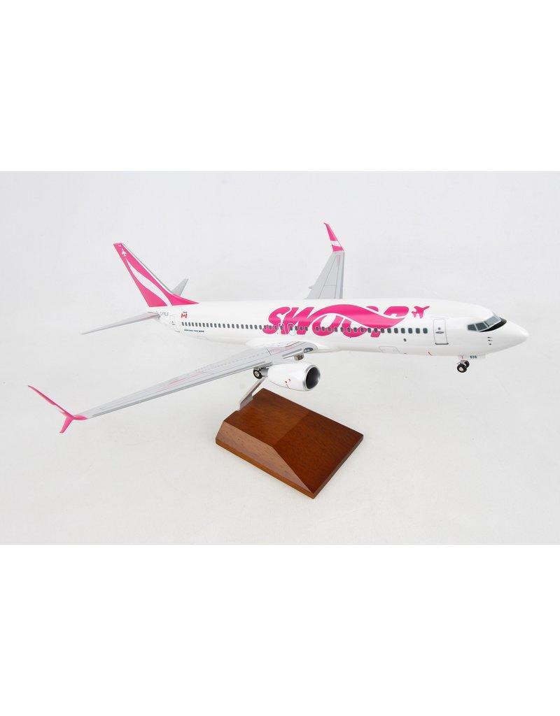Skymarks Swoop 737-800 1/100 W/Wood Stand
