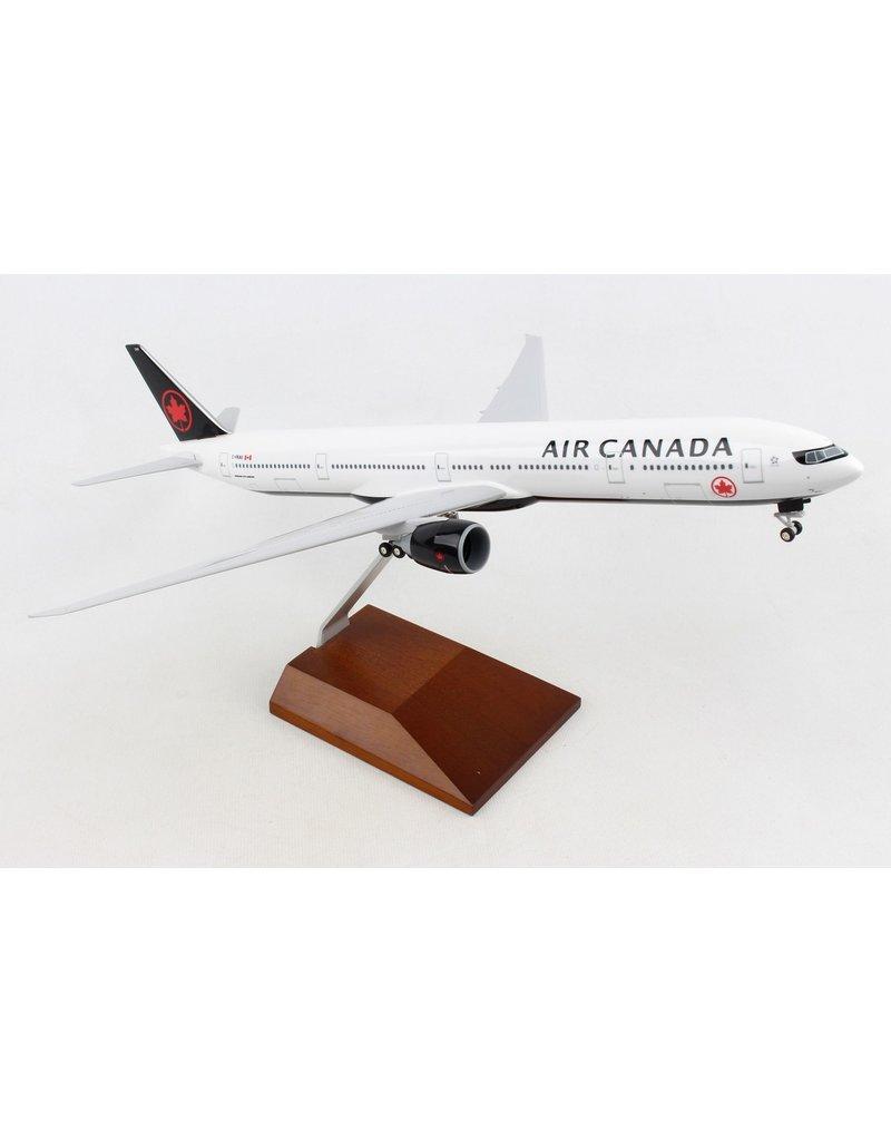 Skymarks Air Canada 777-300 1/200 W/Gear & Wood Stand