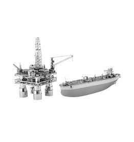Metal Earth Offshore Oil Rig & Tanker