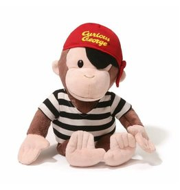 "Gund Curious George 13"" Pirate"