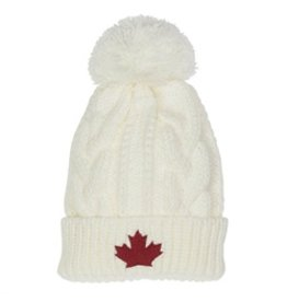 Toque Canada Knit White
