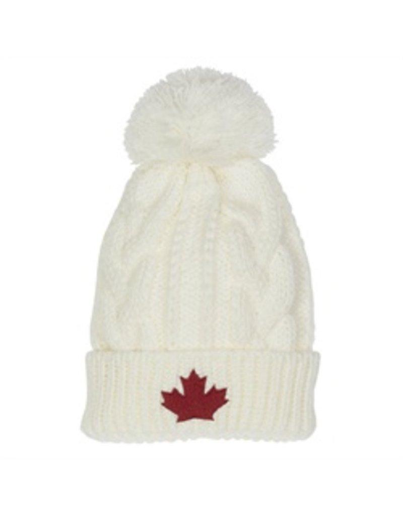 Toque Canada Knit White