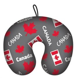 TRAVEL PILLOW CANADA COLLAGE GRAY
