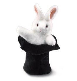 Folkmanis Large Rabbit In A Hat Puppet