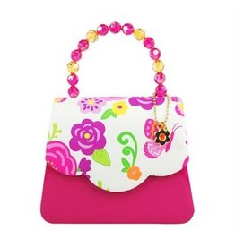 Secret Garden Hard Handbag Hot Pink