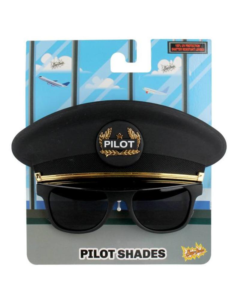c9755f39a82 Sunstaches Pilot Cap Glasses - Who s Who in the Zoo