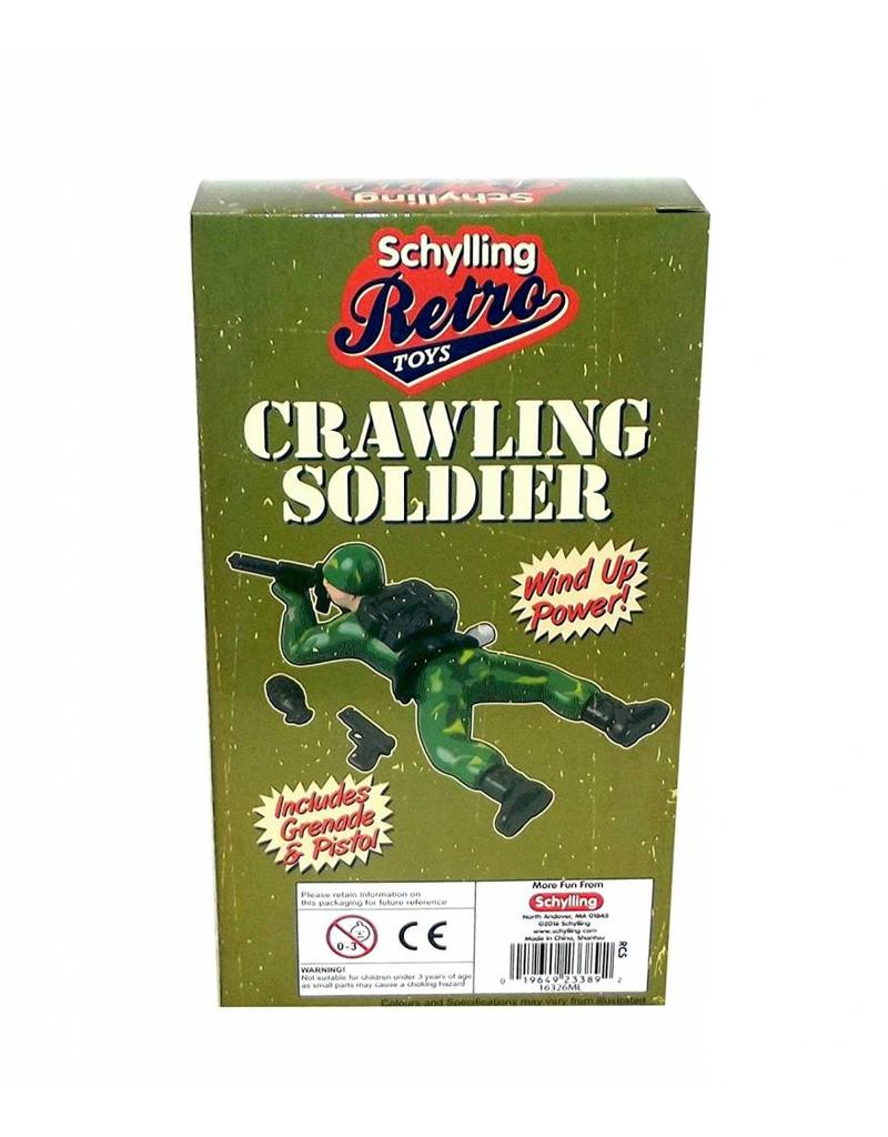 Retro Crawling Soldier Wind-Up Toy
