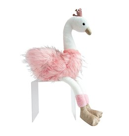 Cygne Rose Large pink & White Swan 80cm