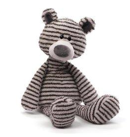 """Gund Zag Teddy Bear Gray & White Stripes 13"""""""