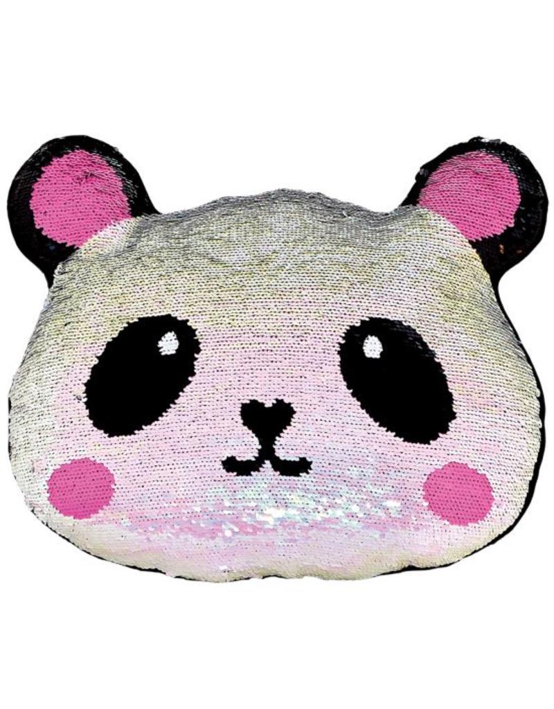 Panda Reversible Sequin Pillow
