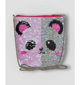 Panda Sequin Crossbody Bag