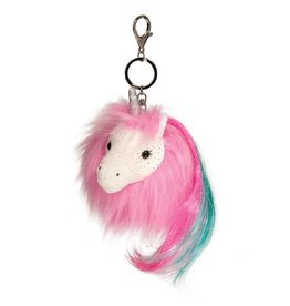 Douglas Hot Pink Unicorn Fur Fuzzle key chain