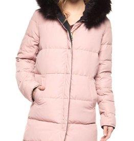 DEX Dex Reversible Coat W/Faux Fur Hood Trim