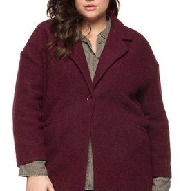 DEX Dex Plus Wide Collar Reese Pkt Coat